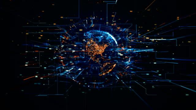 Video Digital World Networks of Information, digital age global connectivity.