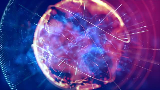 デジタルの世界 - グローバル点の映像素材/bロール