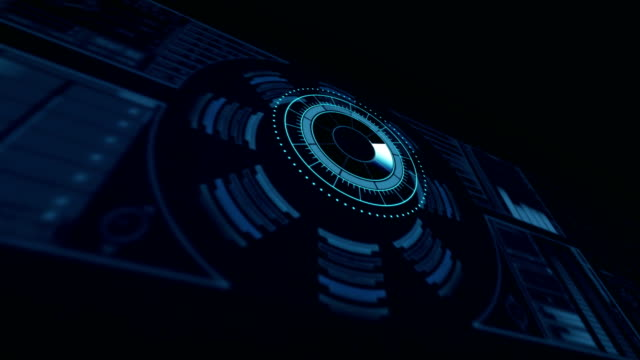 デジタル生成の dna 構造と円形パターン ビデオ