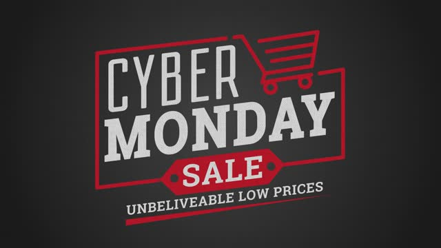 Digitally generated video of Cyber Monday text with electronic device concept Digitally generated video of Cyber Monday text with electronic device concept cyber monday stock videos & royalty-free footage