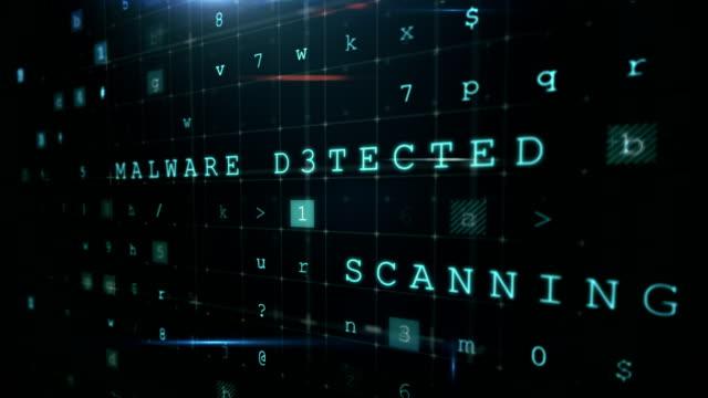 vídeos de stock e filmes b-roll de digitally generated warning sign for online fraud - crime informático