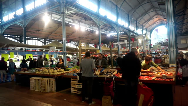 Dijon indoor market in France video