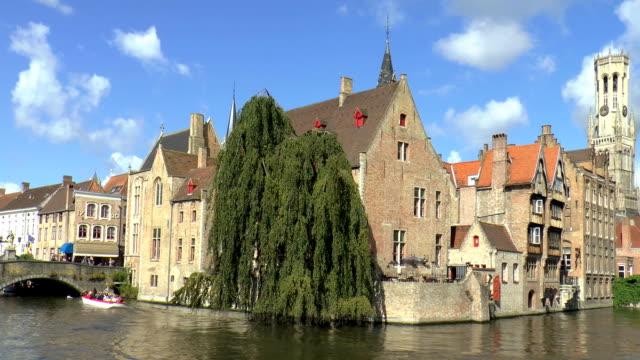 Dijver Canal - Bruges, Belgium video