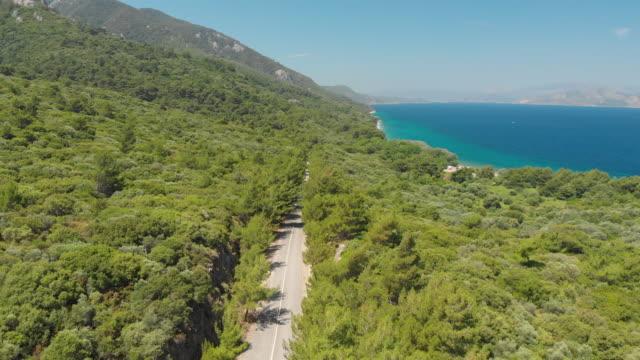dilek peninsula-büyük menderes delta national park, kusadasi, aydin, turkey - morze egejskie filmów i materiałów b-roll