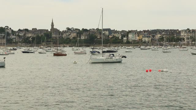 Dinard on the estuary of the Rance. Brittany.