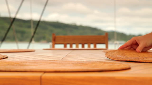 Dining Table on a Luxury Yacht video