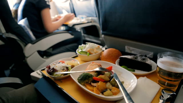 Dinner on an airplane video