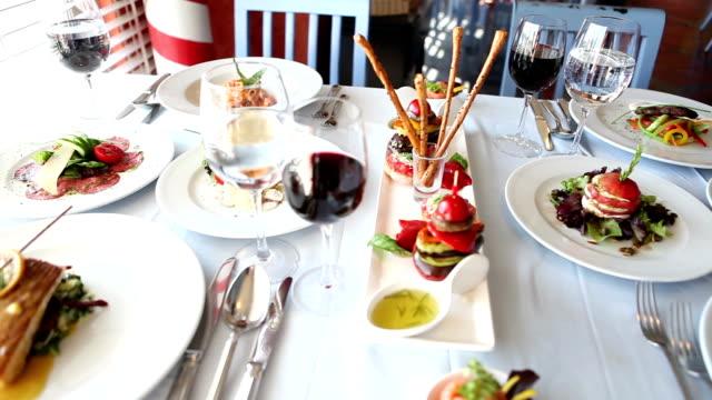 Dinner Table and Italian Food video