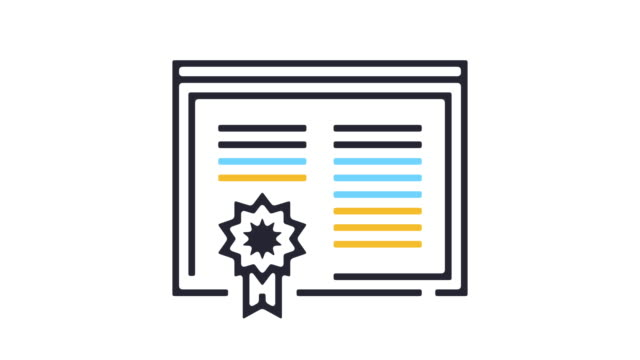 Diploma Icon Animation Thin line animation of certificate icon on white background. diploma stock videos & royalty-free footage