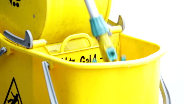 Dipping the mop in bucket video