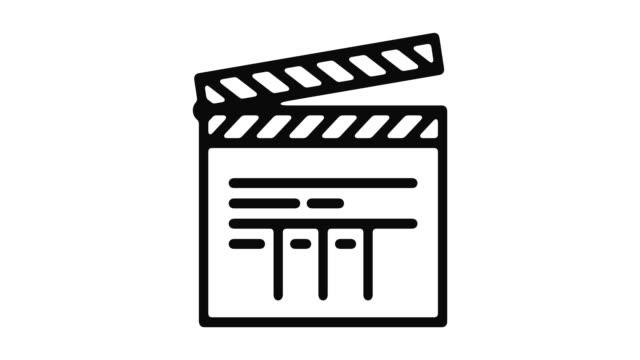direktor-linie motion graphic - filmkamera stock-videos und b-roll-filmmaterial