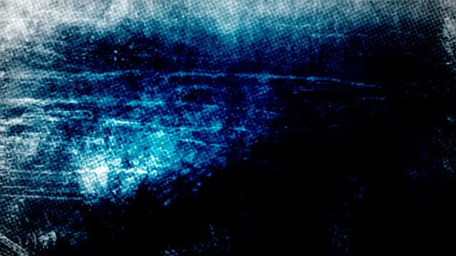 Dirty Blue Newsprint Grunge Background video