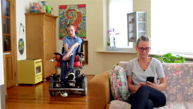 Disabled son with his mother video