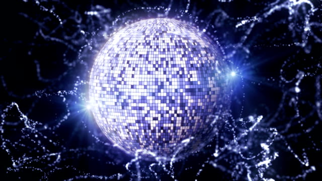 Disco Ball and Particles Universe, with Lights video