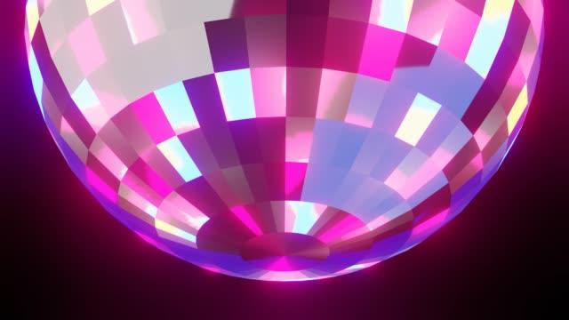 Disco bal op zwarte achtergrond video