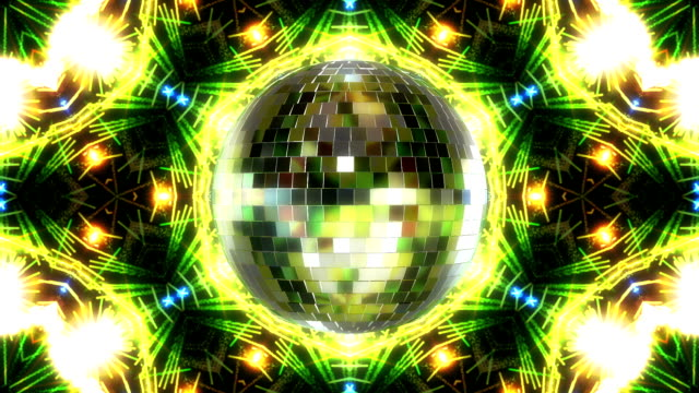 Disco Ball Rotation Loop Animation. 3d Render video