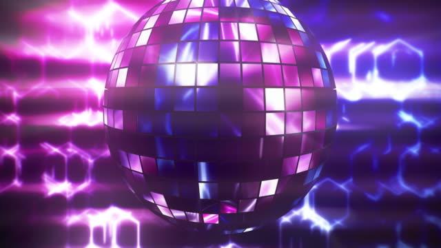 Disco ball shiny lighting loop