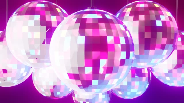 Disco ballen op zwarte achtergrond video