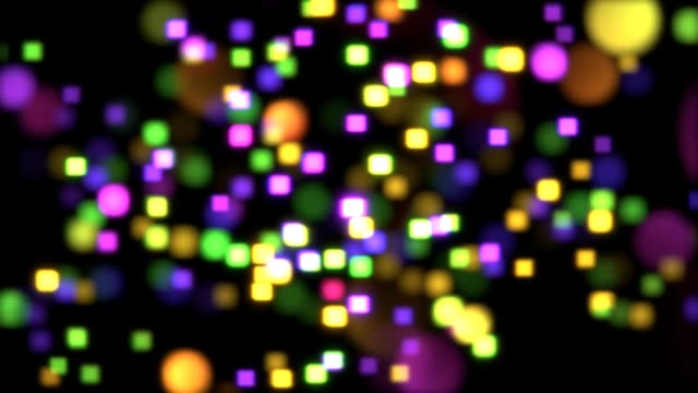 disco colorful bokeh background, seamless loop. - bokeh stock videos & royalty-free footage