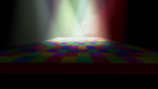 Disco Dance floor 3D background 70's video