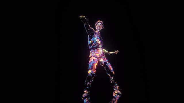Disco dansare Samba dans. 1970-1980-talets stil video