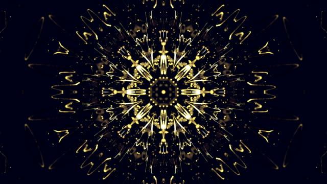 vídeos y material grabado en eventos de stock de fondo flor de disco. lazo de caleidoscopio - mandala