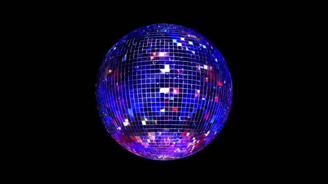 vidéos et rushes de boucle de boule disco miroir. 4k - balle ou ballon