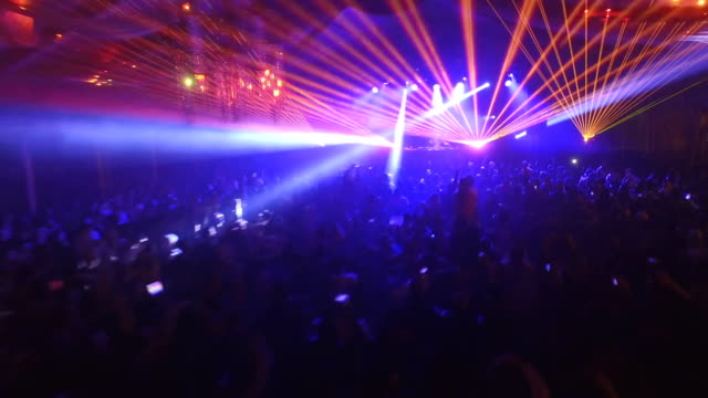 Disco Party with Laser Show Disco Party with Laser Show laser stock videos & royalty-free footage