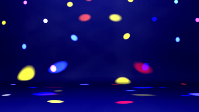 disco spotlights over dance floor video