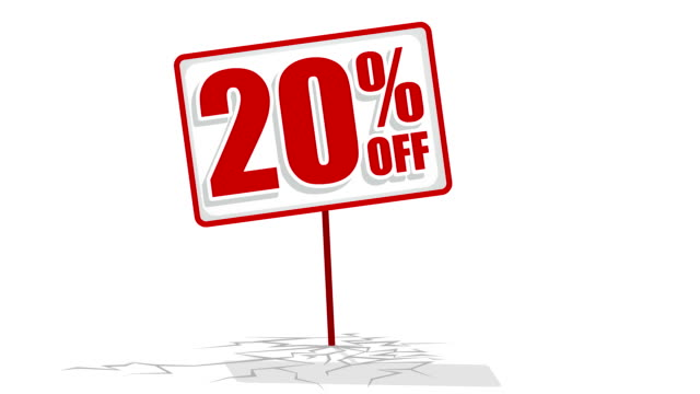 20 % discount sign