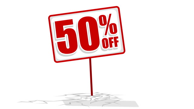 50 % discount sign