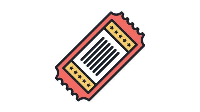 vídeos y material grabado en eventos de stock de descuento entradas línea icono animación con alfa - eventos de etiqueta