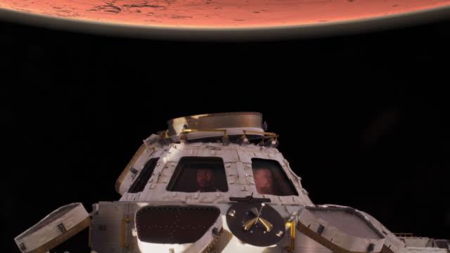 odkrywanie marsa - badawczy statek kosmiczny filmów i materiałów b-roll