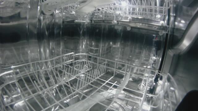 Dish washing machine  dishwasher stock videos & royalty-free footage