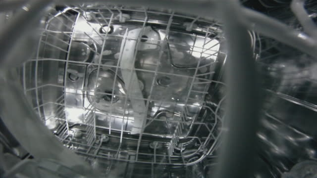 Dishwasher in action.  dishwasher stock videos & royalty-free footage