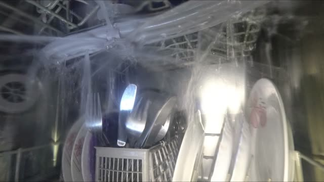 Dishwasher in operation Dishwasher in operation dishwasher stock videos & royalty-free footage