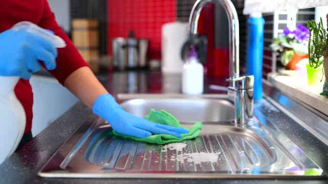 disinfecting groceries during covid-19 coronavirus - bleach stock videos & royalty-free footage