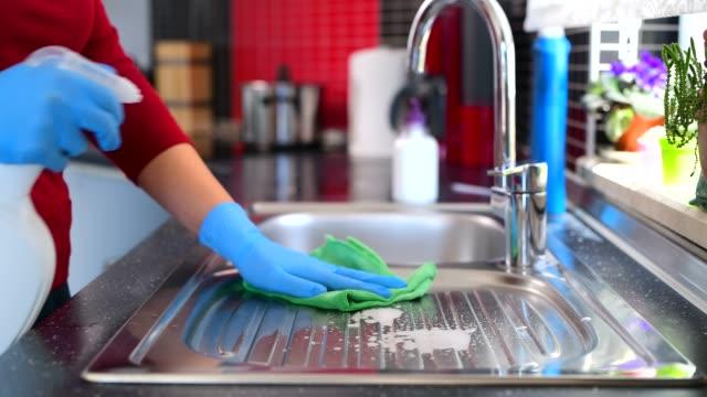 disinfecting groceries during covid-19 coronavirus - cleaning filmów i materiałów b-roll
