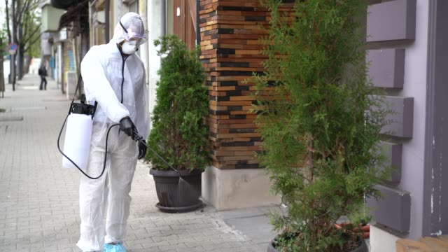 disinfection streets during covid-19 pandemic - disinfectant stock videos & royalty-free footage