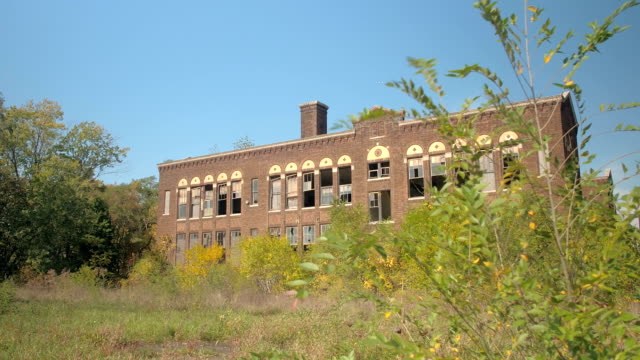 CLOSE UP: Disintegration and decay of beautiful abandoned building in Detroit video