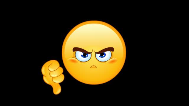 dislike emoticon animation - emoji video stock e b–roll