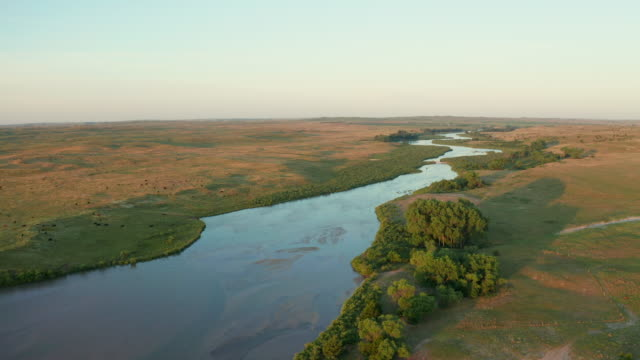 Dismal River meandering through Nebraska Sandhills
