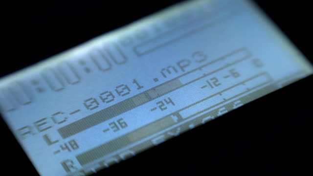 Display recorder during recording, VU meter