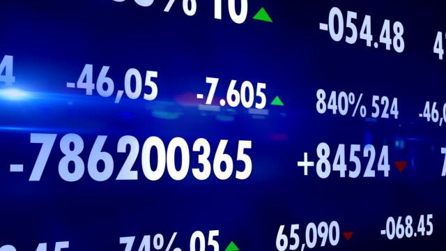 4K Display stock market data Loopable