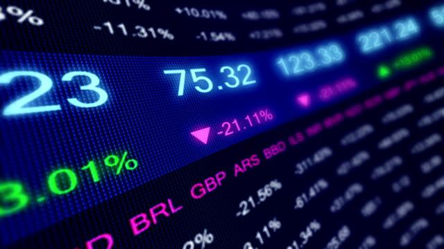 Display stock market data. video