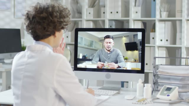 distance medical care - telemedicine stock videos & royalty-free footage