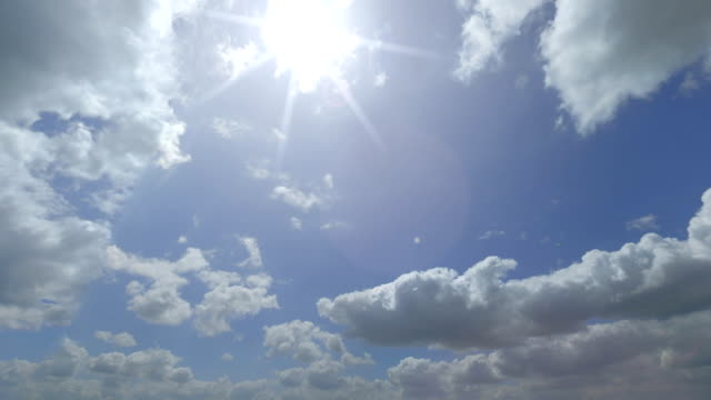Distant Boing 787 flying across beautiful cloudy sky. FullHD sunny weather pan video video