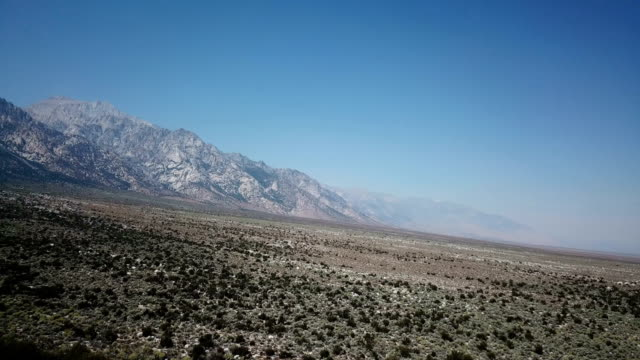 Distant Mountains Guarding Giant Desert Valley video