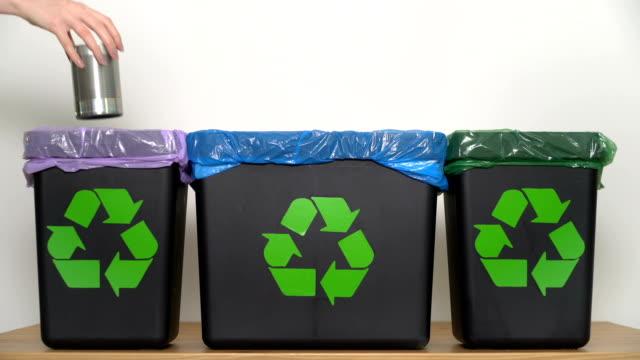 vídeos y material grabado en eventos de stock de distribución de residuos para reciclaje en el hogar. - suministros escolares