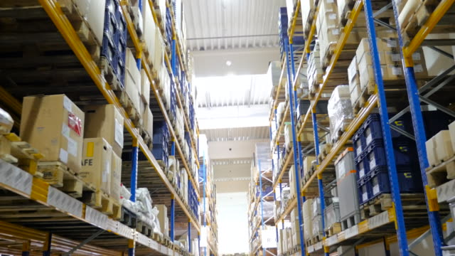 Distribution warehouse - motion up video